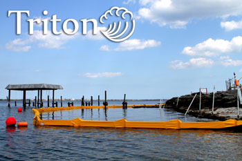 Triton Turbidity boom for marine construction projects