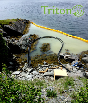 Triton silt barrier for in water construction projects