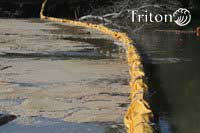 Triton floating silt barrier for turbidity control