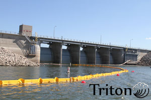 Triton floating turbidity barrier