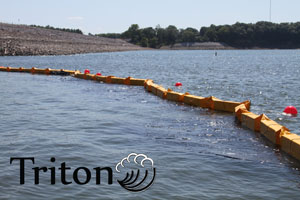 Triton turbidity curtain for marine construction compliance